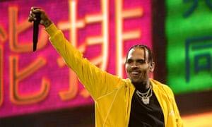 More is more? … Chris Brown performing in Brooklyn, in October.
