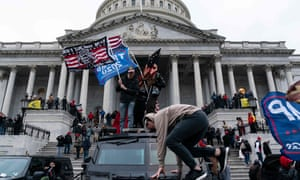 Supporters of Donald Trump storm the US Capitol in Washington DC.