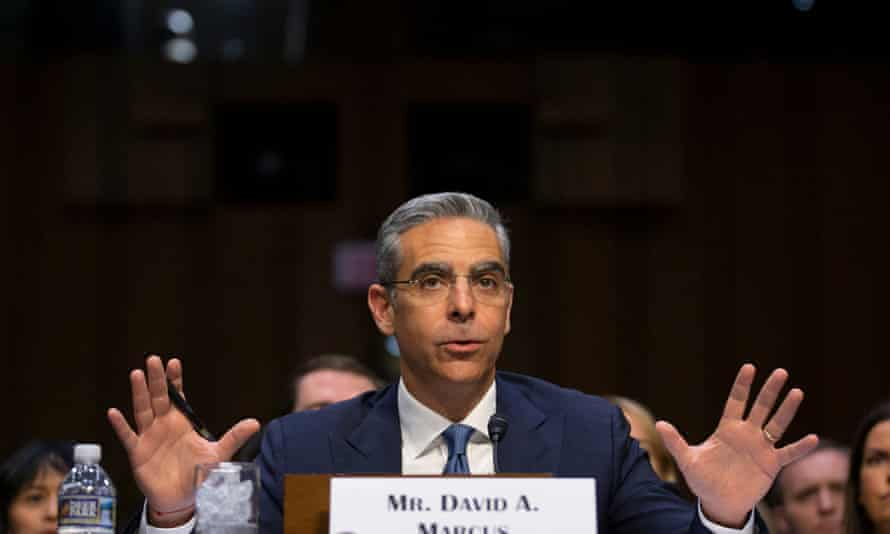David Marcus appearing before the US Senate cryptocurrency hearing.
