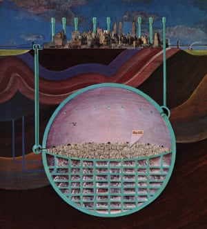 Design by Oscar Newman for a nuclear-proof Manhattan.