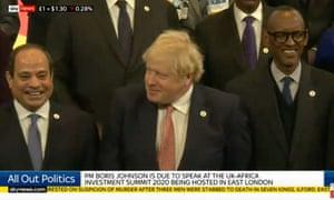 Boris Johnson at UK-Africa summit.