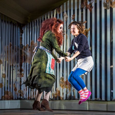 Bevan, right, as Coraline with Kitty Whately in a 2018 ROH production of Mark-Anthony Turnage's opera.