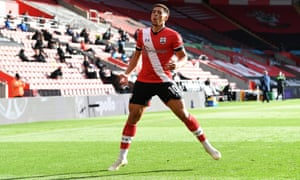 Che Adams of Southampton celebrates after scoring his sides second goal.
