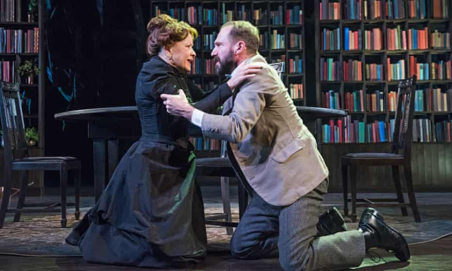 Ralph Fiennes with Linda Emond in The Master Builder at the Old Vic.