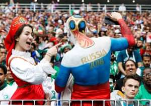 The carnival atmosphere in Moscow for Russia's opening game has continued and spread through the other cities hosting matches.