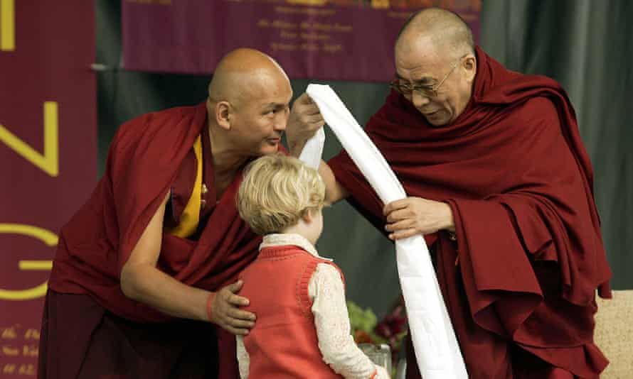 The Dalai Lama (right) with Tenzin Dhonden in Idaho in 2005. Dhonden, 53, has been suspended from the Dalai Lama Trust pending an investigation.