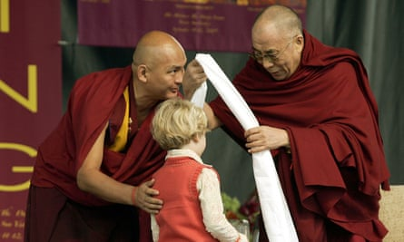 The Dalai Lama (right) with Tenzin Dhonden, his self-styled 'personal emmisary', in 2005