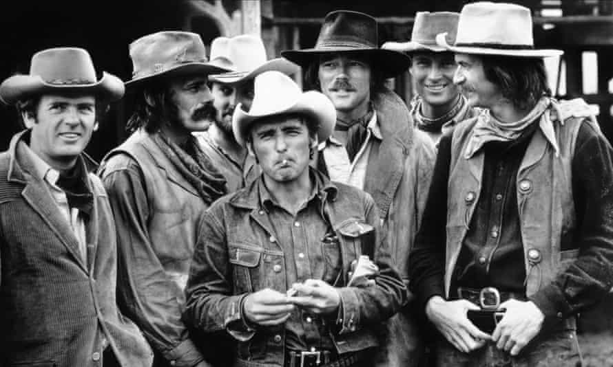 Dennis Hopper (centre) in The Last Movie, 1971.
