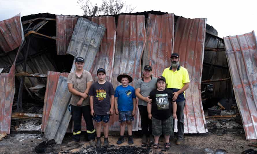 Tammie with Brett Jee and their sons Blake (16), Mason (14), Myles (12) and Beau (10).