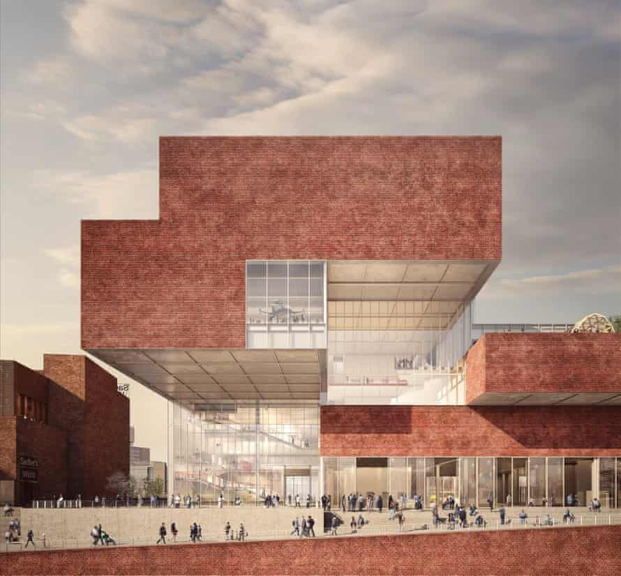 The proposed V&A East, whose shifting form is 'inspired by the drawers of a Japanese incense box in the museum's collection'.