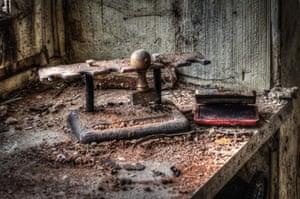 Rusting utensils.