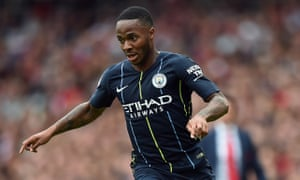 Raheem Sterling scored for Manchester City against Arsenal on Sunday, continuing his impressive form for the reigning champions.