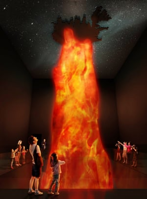 Artist's impression of inside the Lava Centre