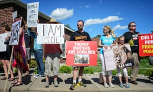 Cecil the lion protesters