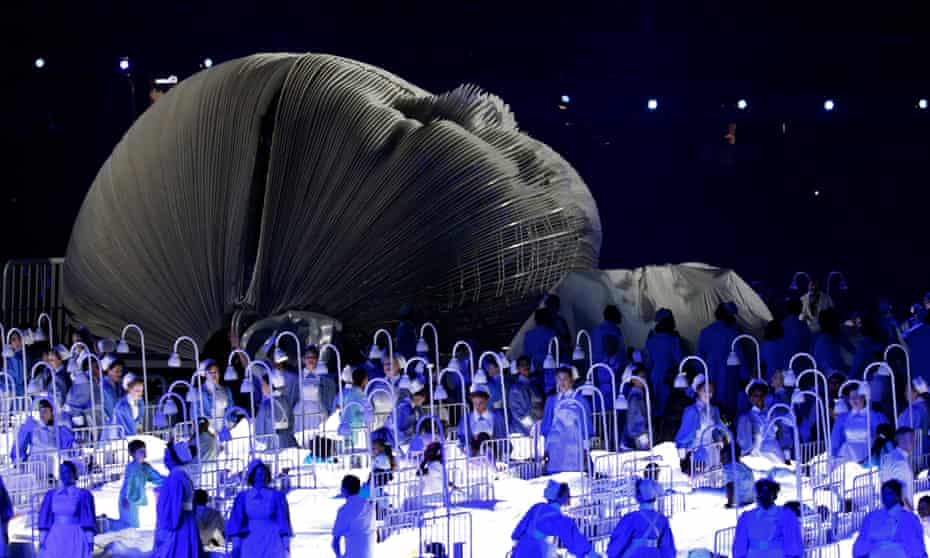 The NHS section of Boyle's 2012 Olympics opening ceremony.