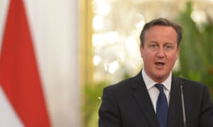 British prime minister David Cameron at the presidential palace in Jakarta at the start of his visit to south-east Asia.