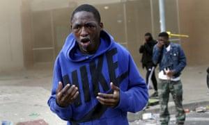 Demonstrator sprayed with pepper spray