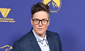 Hannah Gadsby arrives at the Australians in Film awards at Paramount Studios