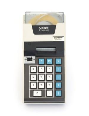 Portable calculator, 1970