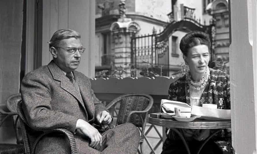 Simone de Beauvoir and French philosopher Jean-Paul Sartre, Paris, France, 1940