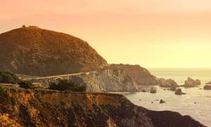 Coastal trance … Big Sur Pacific coastline in California, a source of inspiration for Adams.