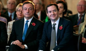 Mario Draghi and George Osborne