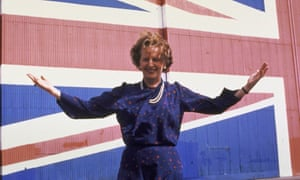 Margaret Thatcher on the campaign trail in 1983