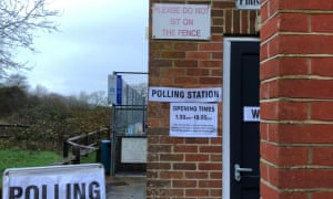 Charlie Hamilton loved the sign spotted by her colleague Sam Picknell at Plaistow polling station, West Sussex
