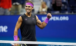 Rafael Nadal can draw within one grand slam title of Roger Federer if he wins Sunday's final.