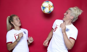 England's Rachel Daly and Millie Bright get their portrait on.