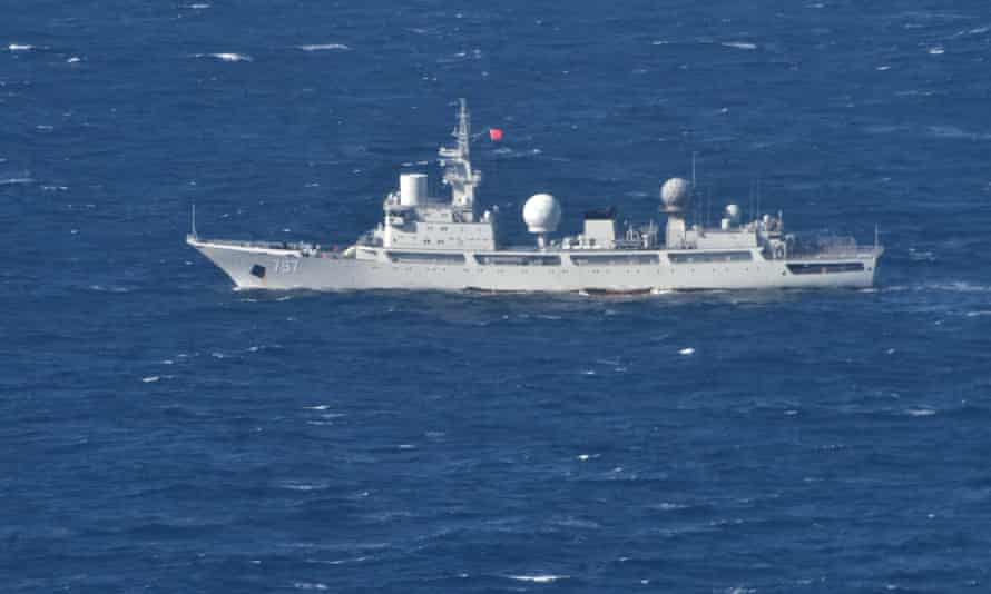 The People's Liberation Army general intelligence ship Tianguanxing in the Arafura Sea on 11 July 2021