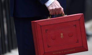 The chancellor of the exchequer's red ministerial box.