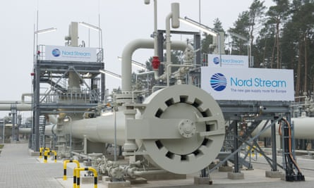 The landing station of the Baltic Sea pipeline Nord Stream in Lubmin near Greifswald, Germany