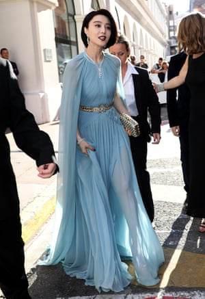 Actress and Jury Member Fan Bingbing is spotted at the 'Majestic' hotel during the 70th annual Cannes Film Festival