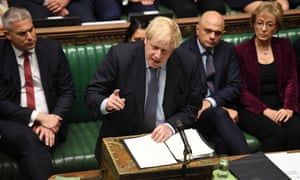 Boris Johnson in parliament.