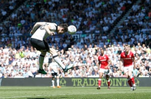David Nugent heads home number three for Derby.