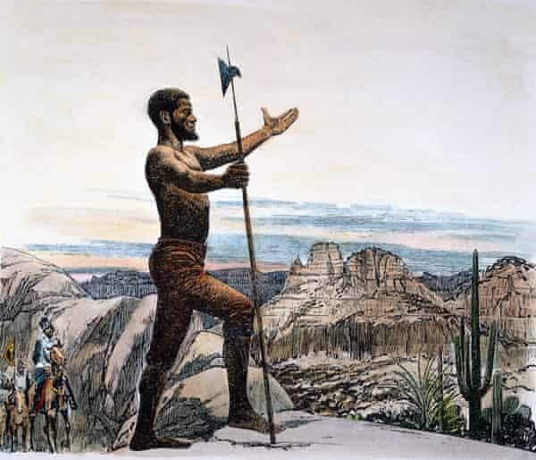 Alternative hero ... Estebanico, the main character in The Moor's Account.