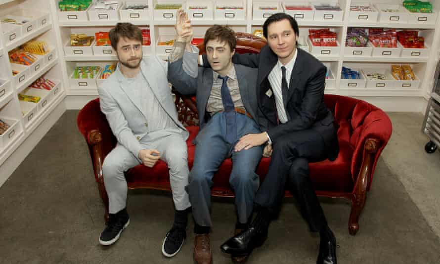 Over their dead body: Daniel Radcliffe, 'Manny', and Paul Dano at Swiss Army Man's New York premiere.
