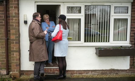 On the campaign trail in Stoke earlier this year. The disconnect between voters and the voted is glaring.