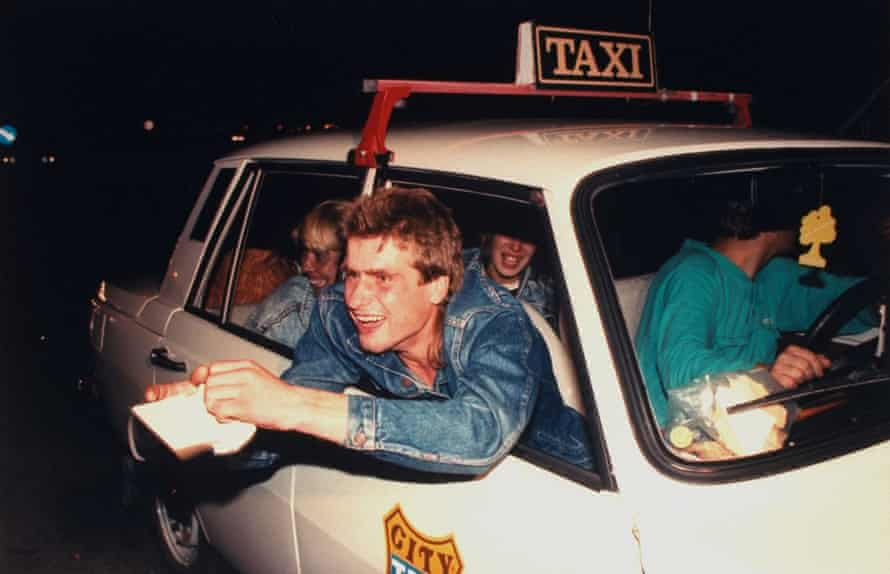 East Germans displaying West German passports while crossing from Hungary into Austria, September 1989.