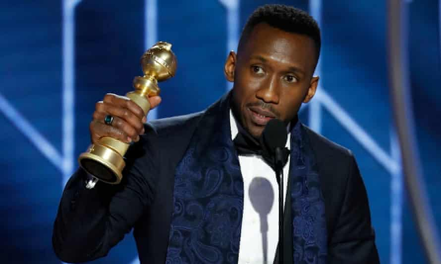 Mahershala Ali accepts the Best Supporting Actor - Motion Picture award onstage during the 76th Annual Golden Globe Awards.