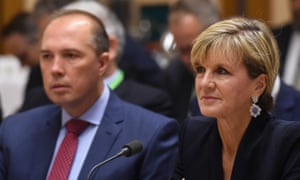 Peter Dutton and Julie Bishop
