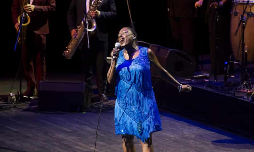 Sharon Jones … On stage earlier this year.