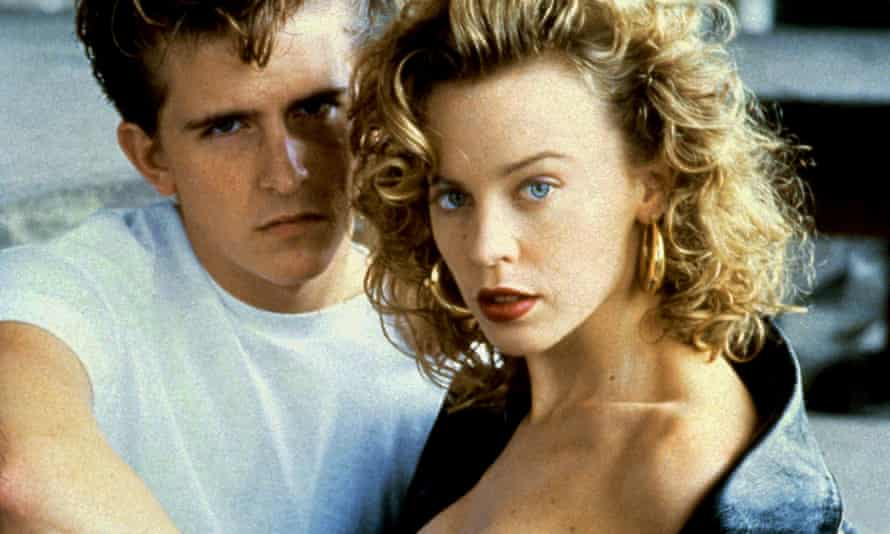 What a rebel ... Charlie Schlatter and Kylie Minogue in The Delinquents.
