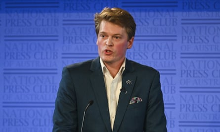 Director of the Australian Christian Lobby Martyn Iles speaks during a debate on the religious freedom bill at the National Press Club in Canberra on Wednesday.
