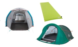 Pop-up tents and sleeping mat
