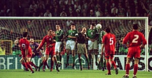 Luc Nilis scored in both legs as Belgium qualified for the 1998 World Cup at the expense of the Republic of Ireland.