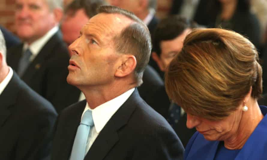 Tony Abbott at a special Ecumenical Service before the start of the Parliamentary year, 2015.