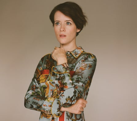 Claire Foy in print dress, £1,164, by FRS For Restless Sleepers from matchesfashion.com.