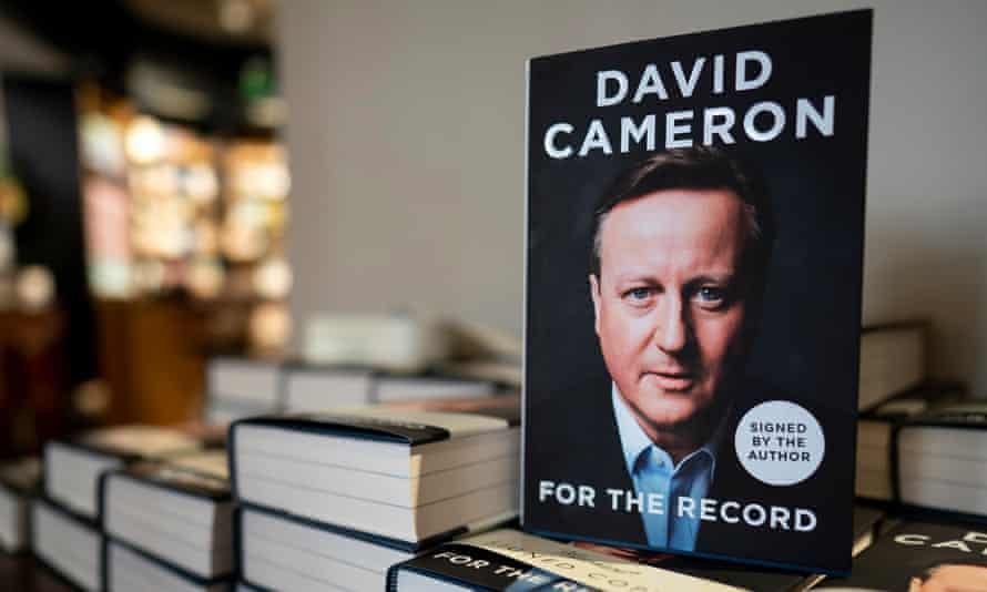 Former British Prime Minister David Cameron's autobiography on sale in Londonepa07853397 A photograph showing book written by former British Prime Minister David Cameron called 'For The Record' at a bookshop in Central London, Britain, 19 September 2019. The book which was released today chronicles Mr. Cameron's time as British Prime Minister. EPA/WILL OLIVER